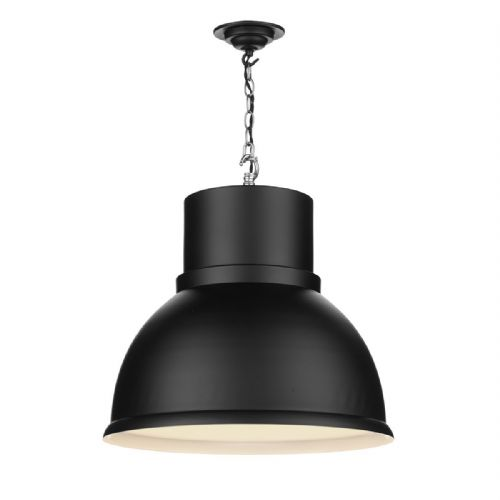 Shoreditch 1 Light Pendant Extra Large Black (Hand made, 7-10 day Delivery)